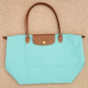 NEW Longchamp Limited Teal Color Le Pliage XL Tote